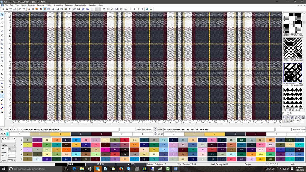Design Dobby Dobby Weaving Cad 2d 3d Software For